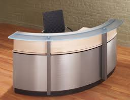 custom reception desks with glass stainless steel from a full line of modern reception