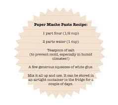 Paper Mache Recipe