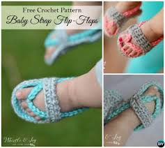 Crochet Baby Sandals Pattern Custom 48 Crochet Baby Flip Flop Sandals [FREE Patterns]