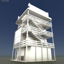Small Picture 3D model Tower House Design Blender Game Engine VR AR low