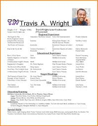 Samples Of Acting Resumes Actor Resume Template Teller Resume Sample Free Acting Resume 2