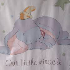 Disney Dumbo the Elephant Our Little Miracle Quilt Fabric Cot ... & Disney Dumbo the Elephant Our Little Miracle Quilt Fabric Cot Panel, 36 x 44 Adamdwight.com