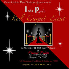 Red Carpet Party Invitations Daddy Daughter Dance Red Carpet