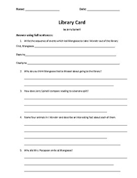 library card by jerry spinelli scaffolded essay writing by  library card by jerry spinelli scaffolded essay writing