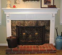... Brick Incredible Ideas For Designing Fireplace Heart Decoration : Cozy  Living Room Decoration Using Brown Marble Fireplace ...