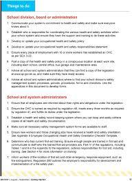 Occupational Health And Safety Schoolkit For Saskatchewan School