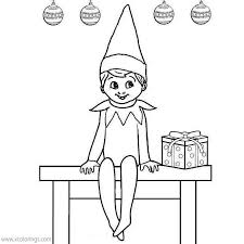 You can also download full pdfs of all of the coloring sheets … Elf On The Shelf Coloring Pages Christmas Present Xcolorings Com