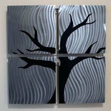 brushed stainless steel wall art contemporary metal wall art