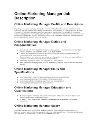 job description marketing manager online professional resume job description marketing manager online digital marketing manager jobs monster 12 sample marketing manager job description