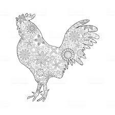 Haan Of Haan Kip Boerderij Vogel Voor Volwassen Kleurplaat