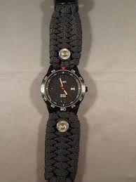 paracord watchband watch with 38 special case heads high caliber creations