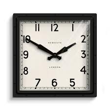 Industrial Square Wall Clock Black Newgate Clocks Quad