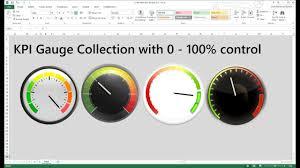 Gauge Chart Excel Bulat