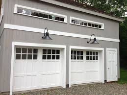 garage doors with windows double