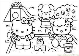 Small Picture Coloring Pages Hello Kitty Cartoons Free Printable Bebo Pandco