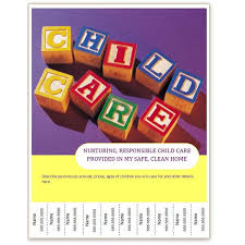 Free Childcare Advertising Daycare Template Free Free Child Care Flyer Templates Find Free
