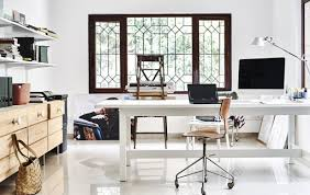 living room with office. Home Visit: A Workspace For Creative Collaboration Living Room With Office