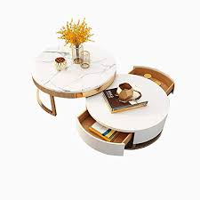 homary white round coffee table