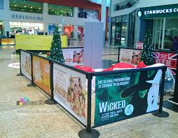 Coffee Shop Display Stands Printing Cafe Barrier Advertising Coffee Banner with Display Stand 31