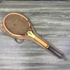 antique wood tennis racket wright ditson criterion w vintage spalding case 1920 s tennis racquet sports wall hanging gift for dad