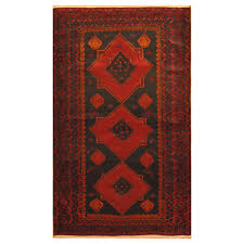 afghan hand knotted wool war rug 4 x 6 7