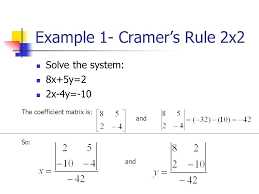 cramers rule matrix math is fun calculus en equation formula