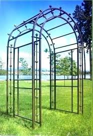 ought iron garden trellis metal arbor for 4 gate on ornamental trellises antique wrought black rod iron garden trellis