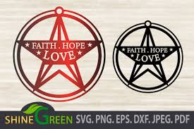 If you wish to use our design, it is only $3 per bundle/design/font for a commercial use (up to 500 physical products or for any other. Christmas Svg Ornament Faith Hope Love Graphic By Shinegreenart Creative Fabrica