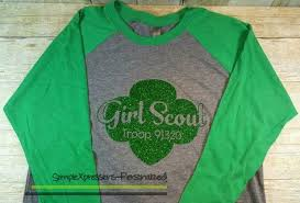 Girl Scout Adult Raglan Glitter Shirt From Simplexpressions