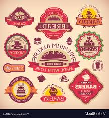 Unique Bakery Labels Vector File Free Free Vector Art Images