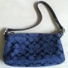 Coach navy blue signature small purse