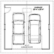 room dimensions shown are inside 2 car garage dimensions california