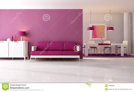 Purple Living Room Modern Purple Living Room Stock Photo Image 16888250