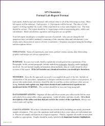 10 Formal Lab Report Format Energizecor Vallis