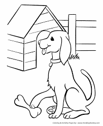 Small Picture Pet Dog Coloring Pages Free Printable Pet Dog and his bone
