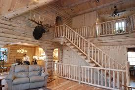 interior shot of the keplar log home