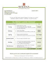 landscape maintenance proposal template best landscaping contract agreement samples and landscape contract