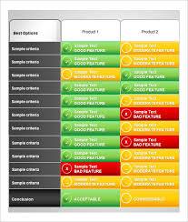 Product Comparison Template Excel 32 Comparison Chart Templates Word Excel Pdf Free Premium