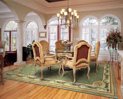 Rugs Under Kitchen Table The Best Size For Your Dining Room Rug Rug Home