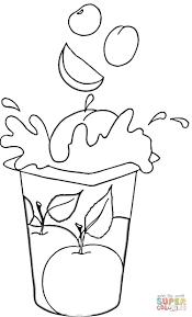 Fruit Yogurt coloring page | Free Printable Coloring Pages