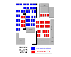 Image Result For The Iridium Seating Chart Seating Charts