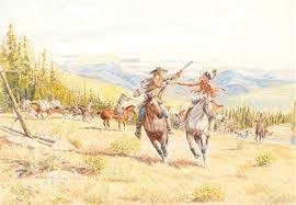 Free Trapper and a Gun Barrel Against a War Club by Byron Wolfe on artnet