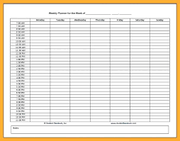 hourly agenda weekly hourly planner template srmuniv co