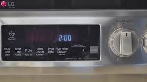 Oven On Light Won T Turn Off Using The Control Panel Range Lse4617 Lg Usa Support