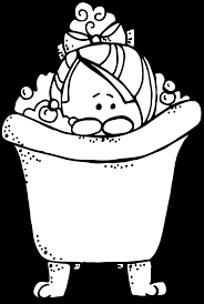 clipart library stock bath clipart black and white melonheadz january xox