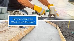 pavers vs concrete what s the