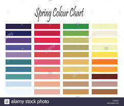 Color Chart For Spring Type Woman For Clothes And Makeup