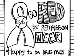 Red Ribbon Color Pages Red Ribbon Week Coloring Sheet Red Ribbon Week Red Ribbon