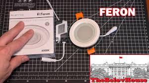 <b>Светодиодный светильник</b> на стекле <b>Feron</b> AL2110, 6Вт - YouTube