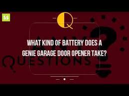 genie garage door opener batteryWhat Kind Of Battery Does A Genie Garage Door Opener Take  YouTube